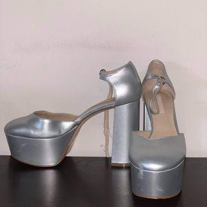 Charles & Keith sliver High heels